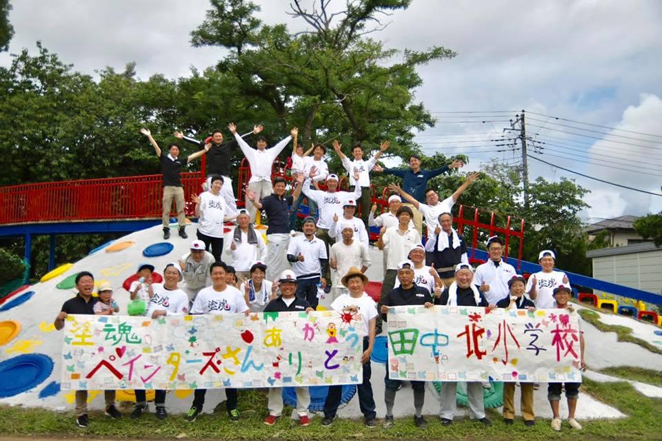2019年7月22日,23日千葉県田中北小学校のボランティアに参加しました!!